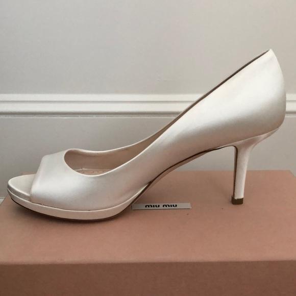 11517497d9fd Miu Miu Shoes | Satin Peeptoe Pumps | Poshmark